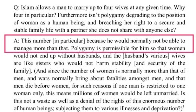 A man may have up to four wives