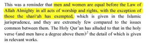"""A statement that should not be followed by an """"exception"""" #Misogyny"""