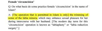 Shirazi condones female genital mutilation
