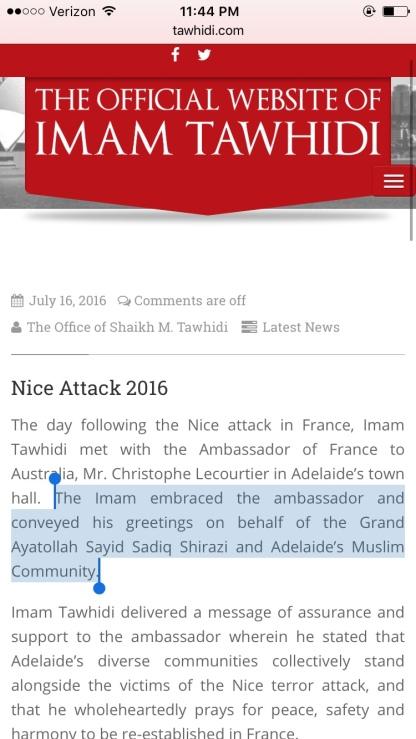 Tawhidi's website in June of 2017