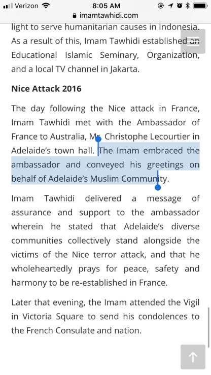 Tawhidi's website in June 2018...what happend to Shirazi?
